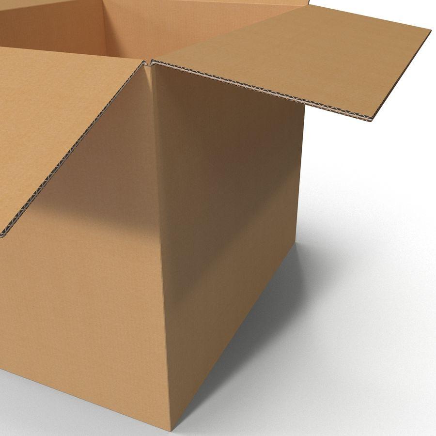 Otwórz karton royalty-free 3d model - Preview no. 10