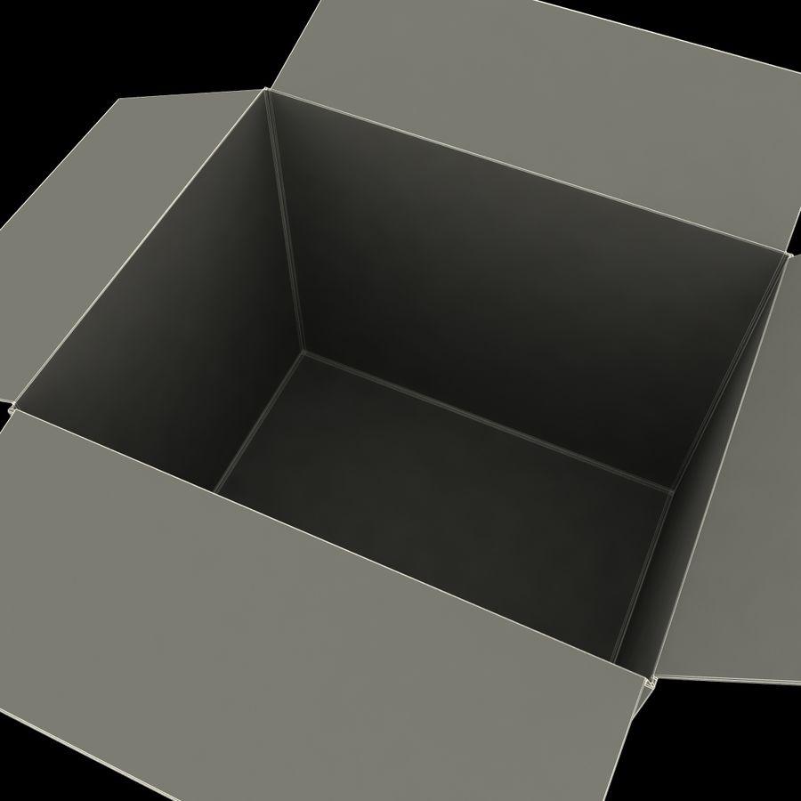 Otwórz karton royalty-free 3d model - Preview no. 16