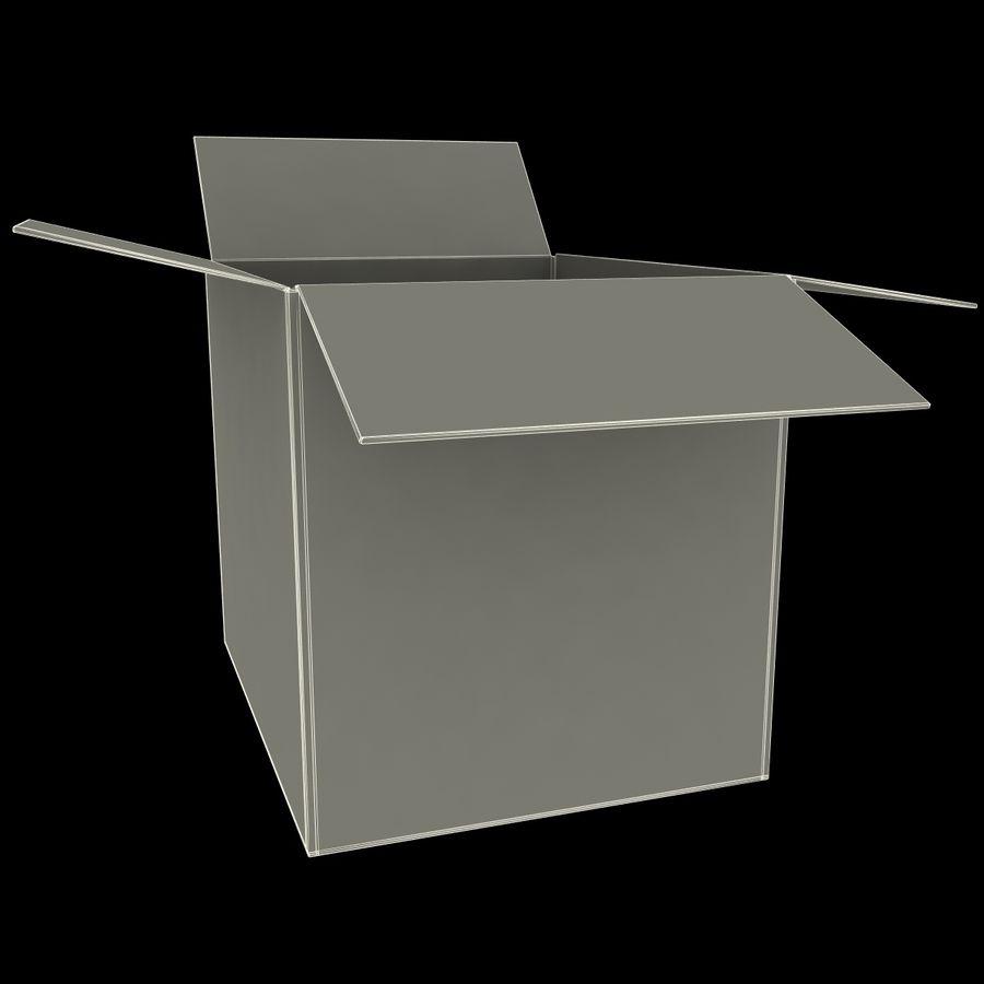 Otwórz karton royalty-free 3d model - Preview no. 14