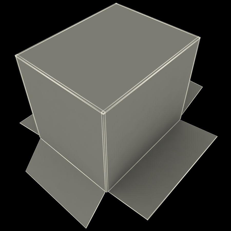 Otwórz karton royalty-free 3d model - Preview no. 19