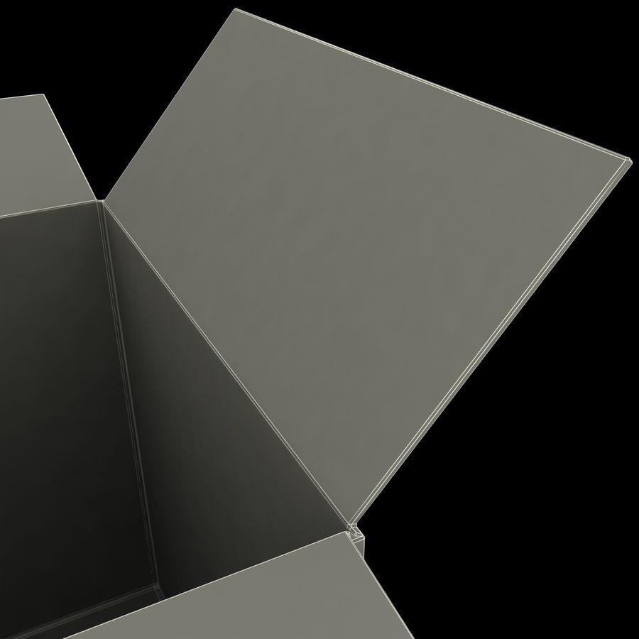 Otwórz karton royalty-free 3d model - Preview no. 17