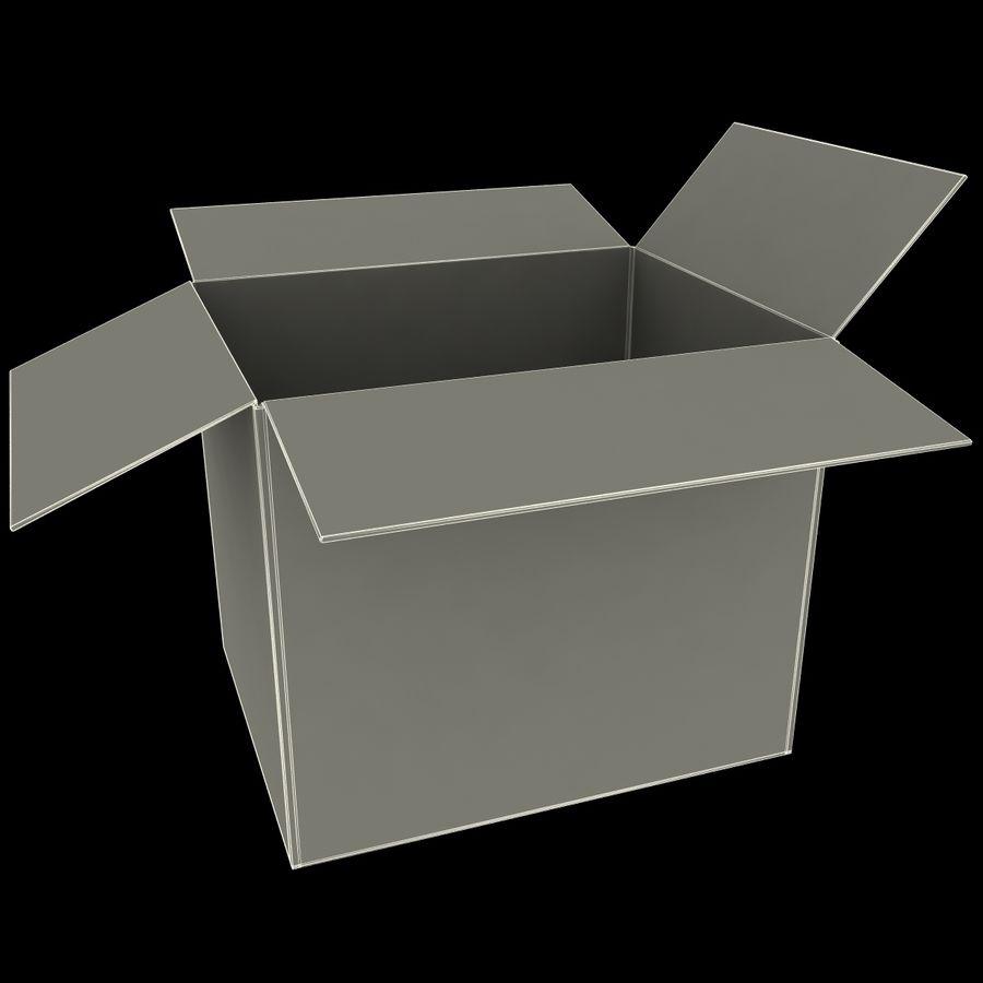 Otwórz karton royalty-free 3d model - Preview no. 11