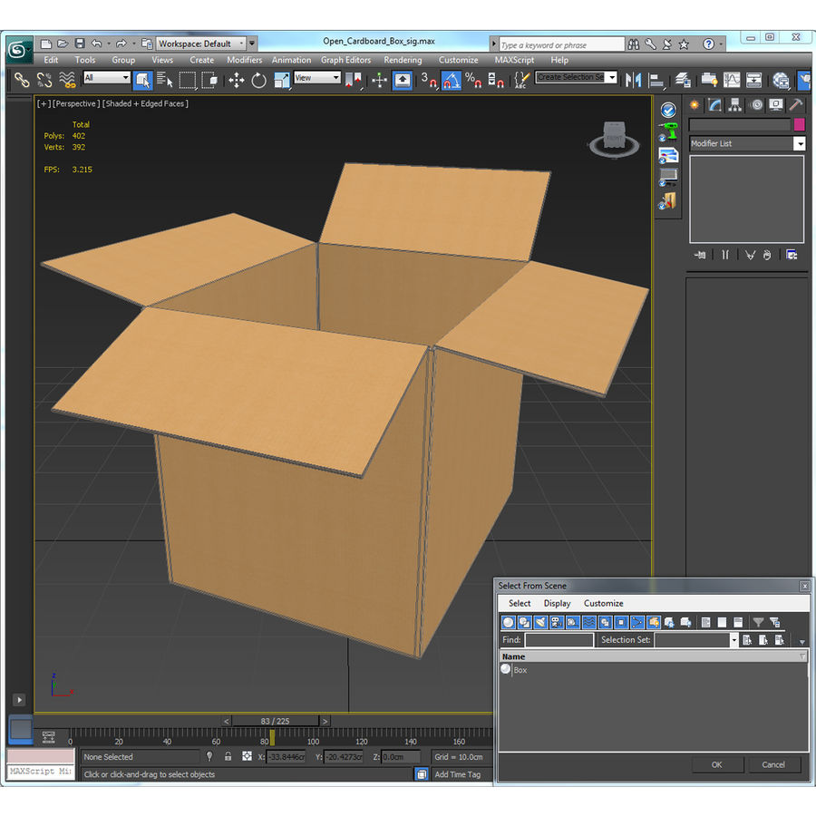Otwórz karton royalty-free 3d model - Preview no. 21