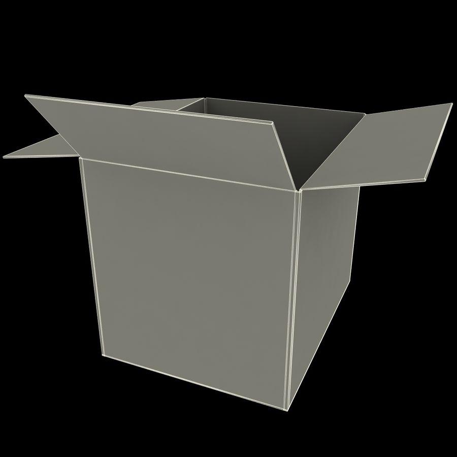 Otwórz karton royalty-free 3d model - Preview no. 13