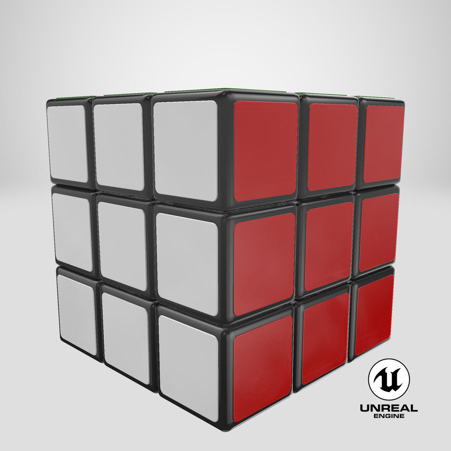 Rubiks Cube royalty-free 3d model - Preview no. 21