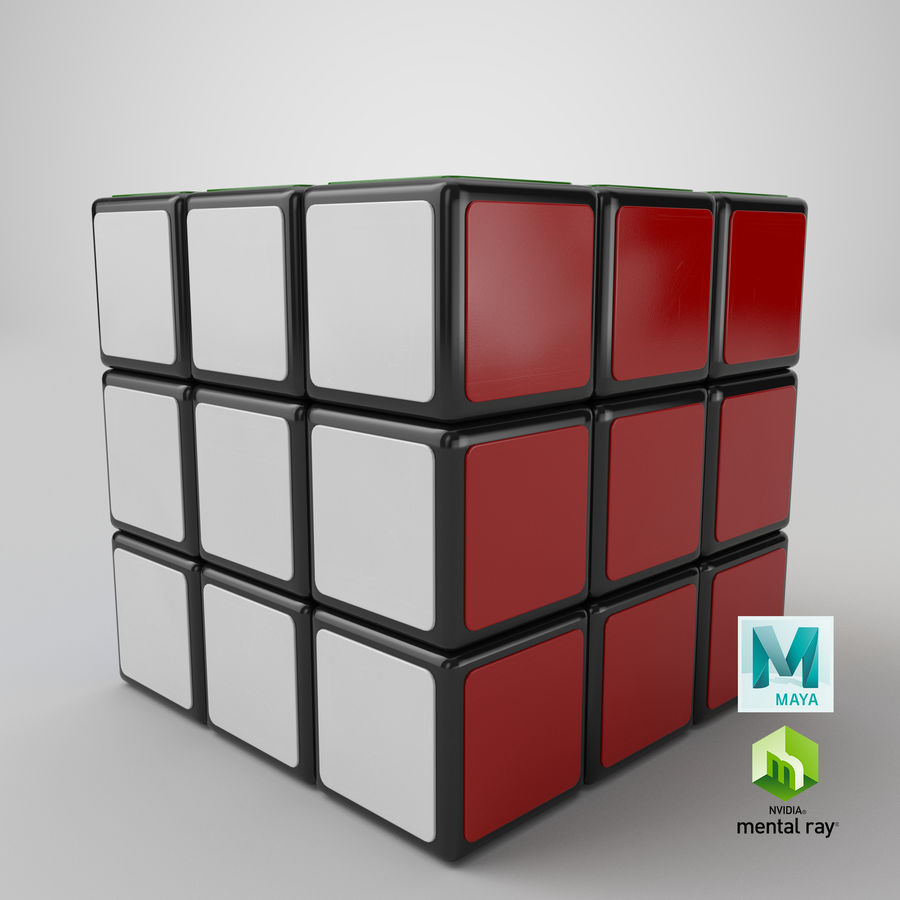 Rubiks Cube royalty-free 3d model - Preview no. 18