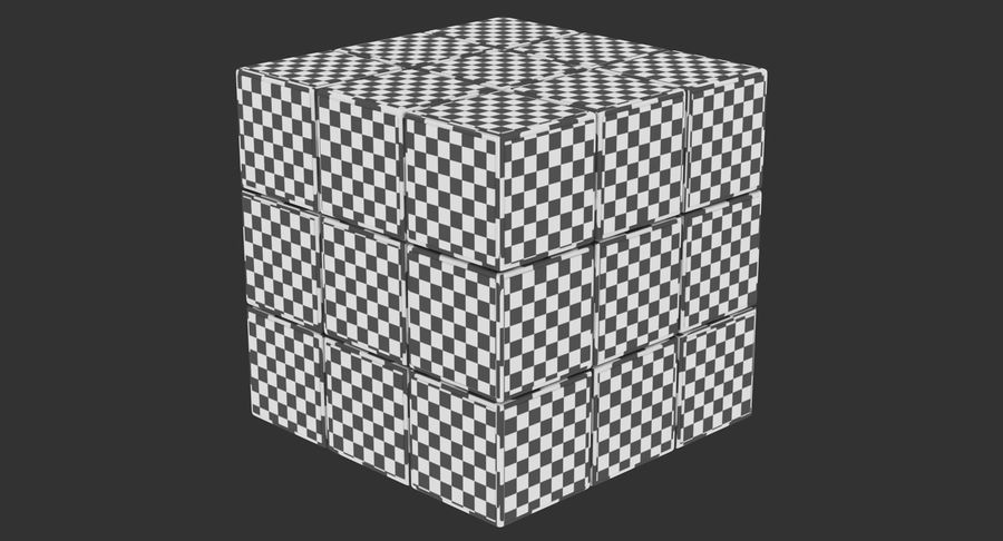 Rubiks Cube royalty-free 3d model - Preview no. 15