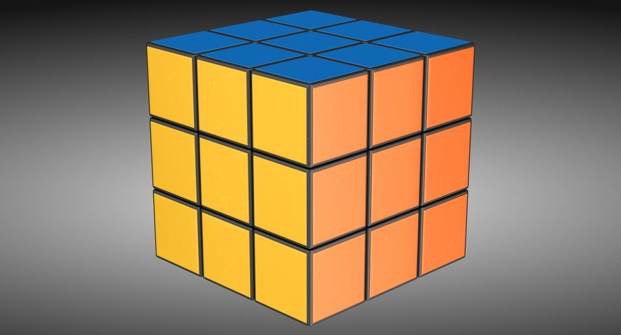 Rubiks Cube royalty-free 3d model - Preview no. 3