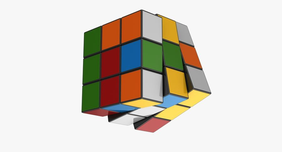 Rubiks Cube royalty-free 3d model - Preview no. 8