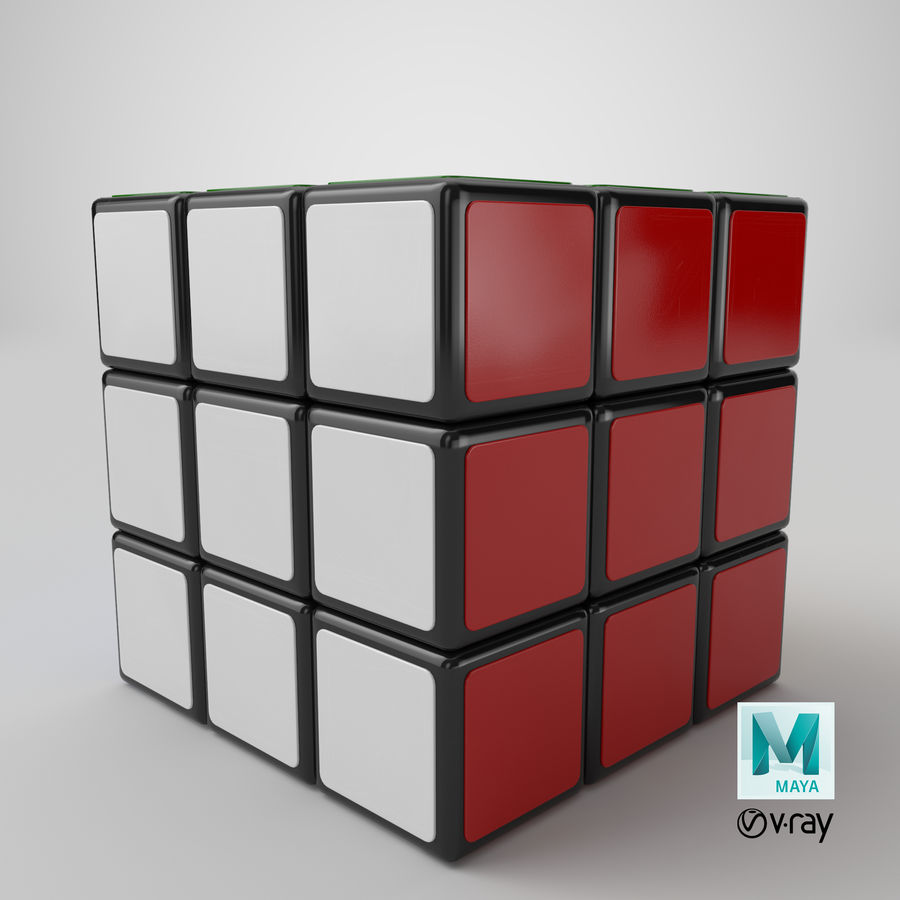 Rubiks Cube royalty-free 3d model - Preview no. 17