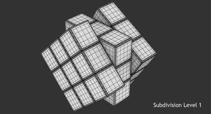 Rubiks Cube royalty-free 3d model - Preview no. 12