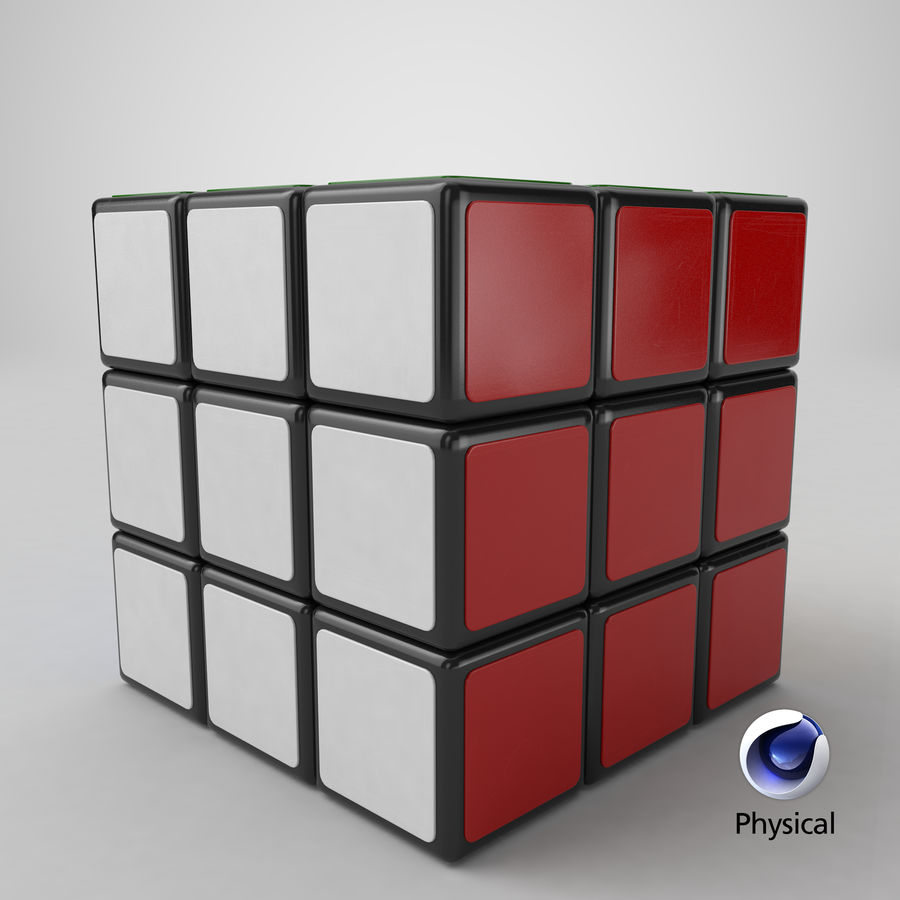 Rubiks Cube royalty-free 3d model - Preview no. 23
