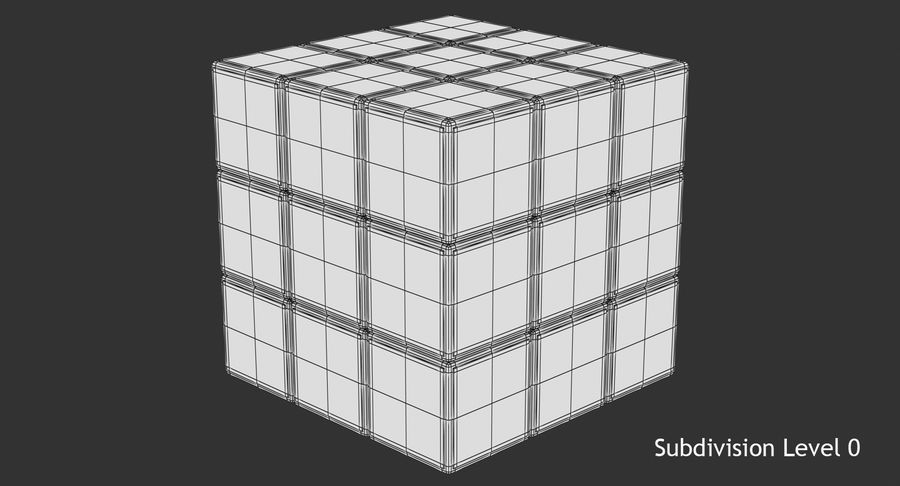 Rubiks Cube royalty-free 3d model - Preview no. 9
