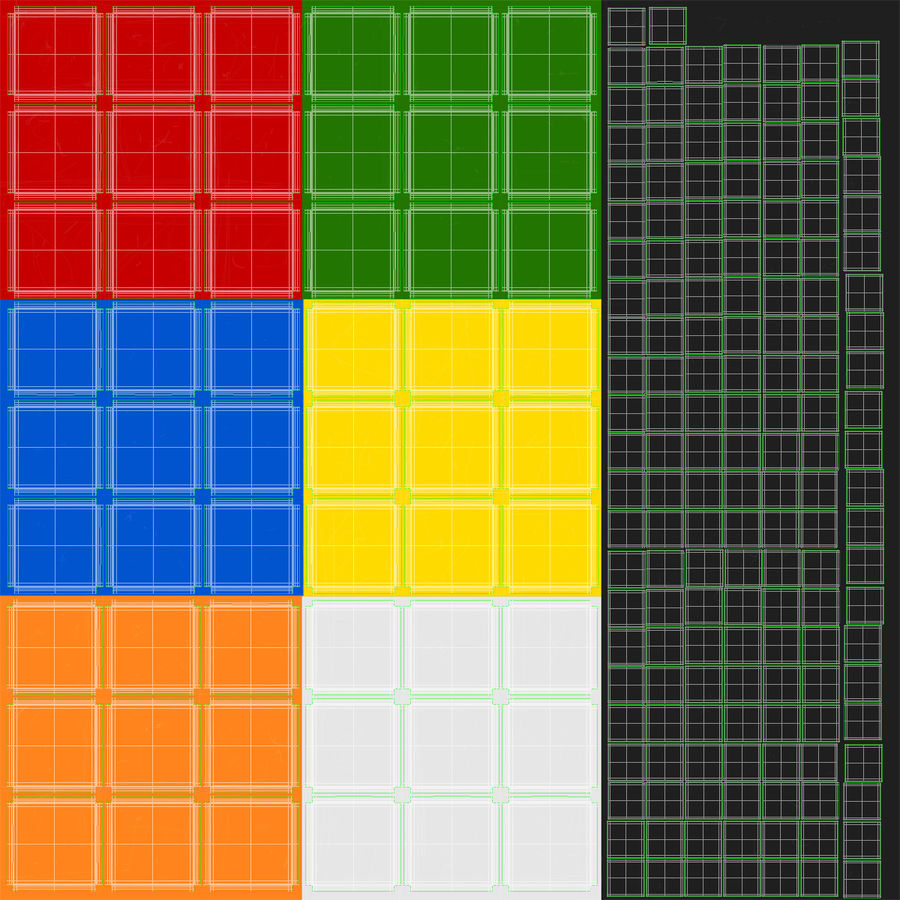 Rubiks Cube royalty-free 3d model - Preview no. 16