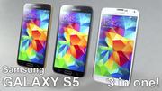 Samsung G900F Galaxy S5 mittel detailliert 3d model