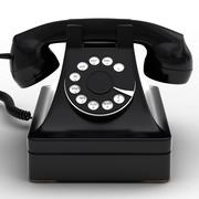 复古手机黑色 3d model