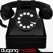 Téléphone rétro noir 3d model