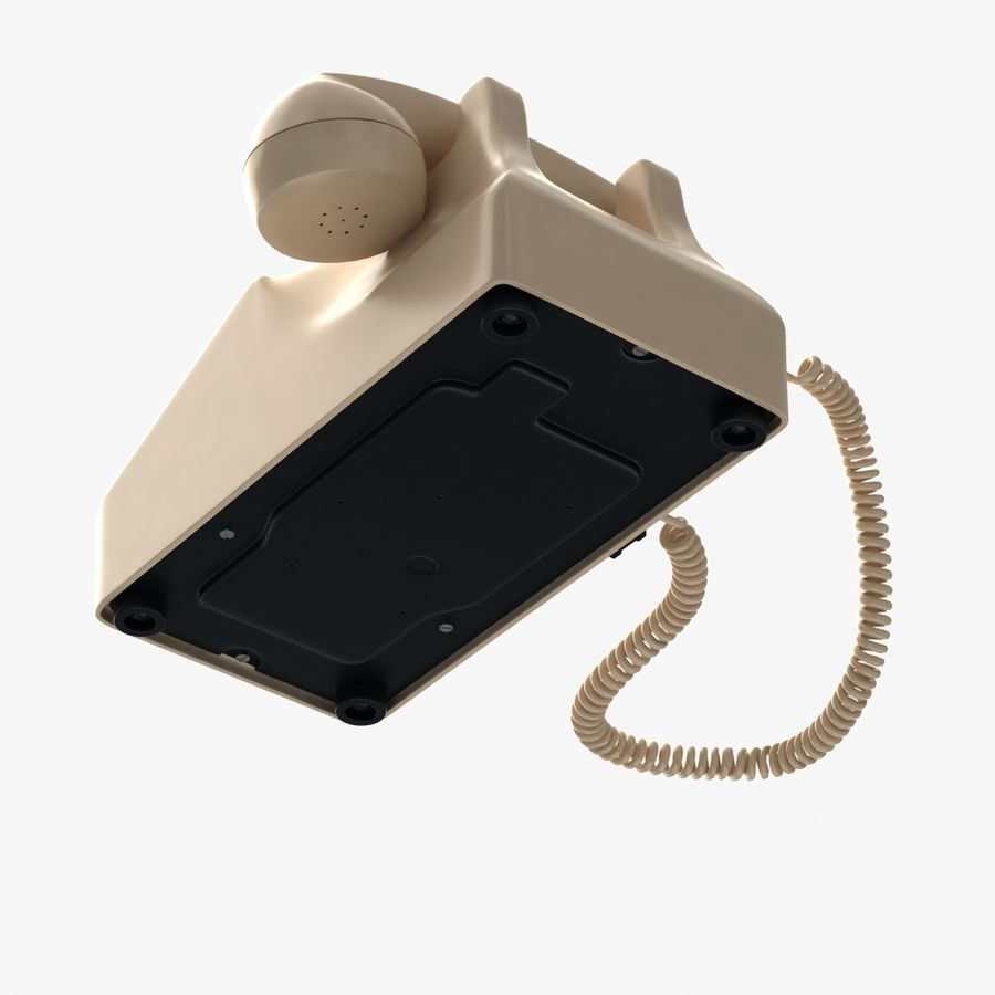 Traditional Corded Phone royalty-free 3d model - Preview no. 8