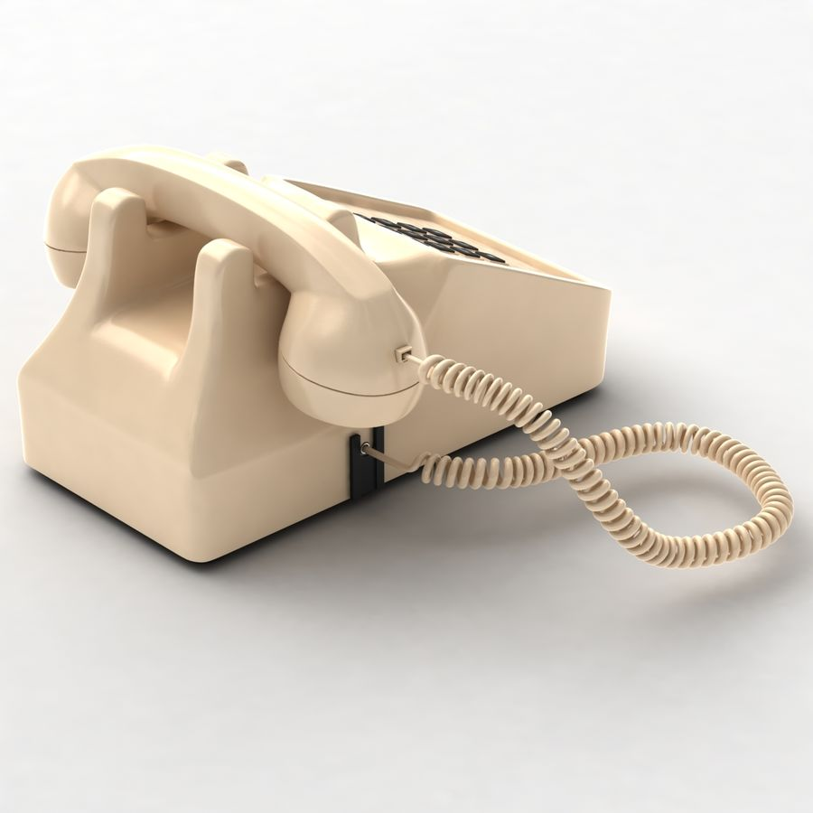 Traditional Corded Phone royalty-free 3d model - Preview no. 6