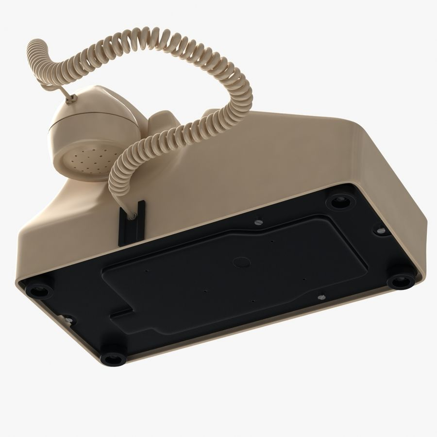 Traditional Corded Phone royalty-free 3d model - Preview no. 9