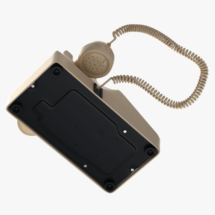 Traditional Corded Phone royalty-free 3d model - Preview no. 7