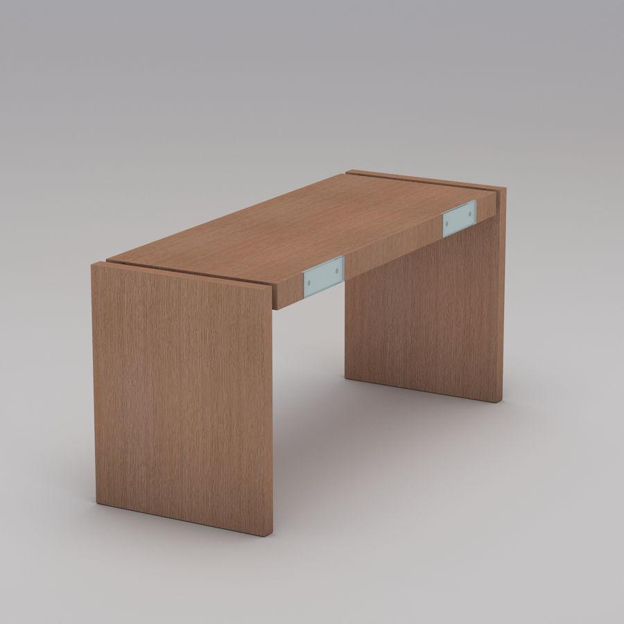 Современный деревянный стол royalty-free 3d model - Preview no. 3