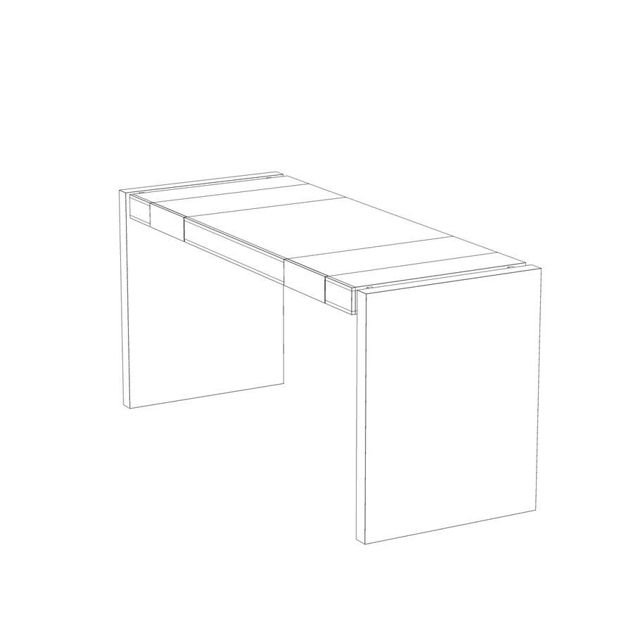 Современный деревянный стол royalty-free 3d model - Preview no. 12