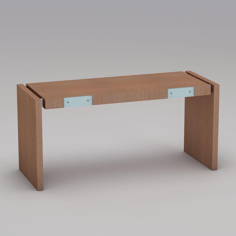 Современный деревянный стол royalty-free 3d model - Preview no. 4