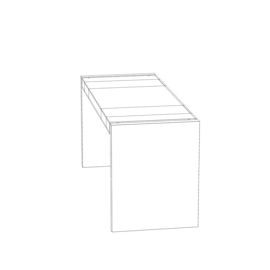 Escritorio moderno de madera royalty-free modelo 3d - Preview no. 9