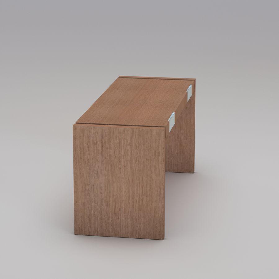 Современный деревянный стол royalty-free 3d model - Preview no. 6