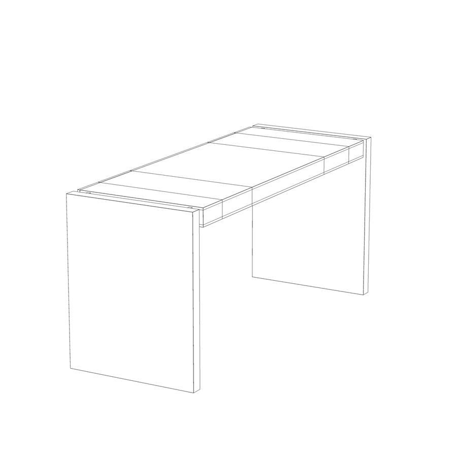 Современный деревянный стол royalty-free 3d model - Preview no. 11