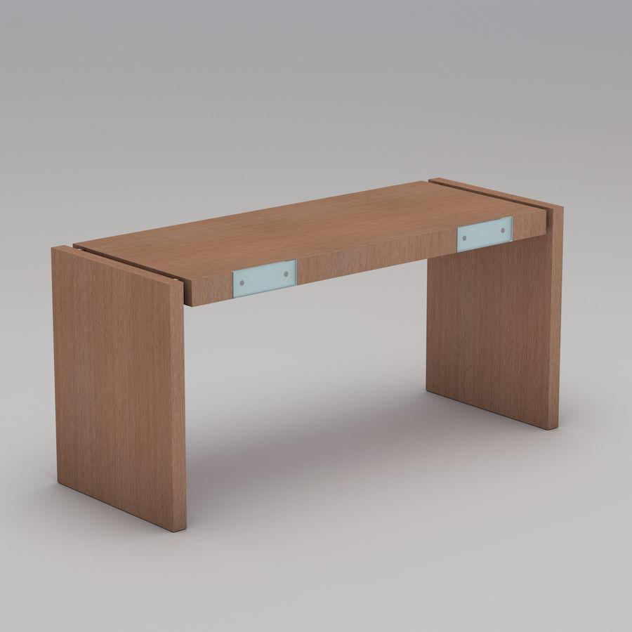 Современный деревянный стол royalty-free 3d model - Preview no. 1