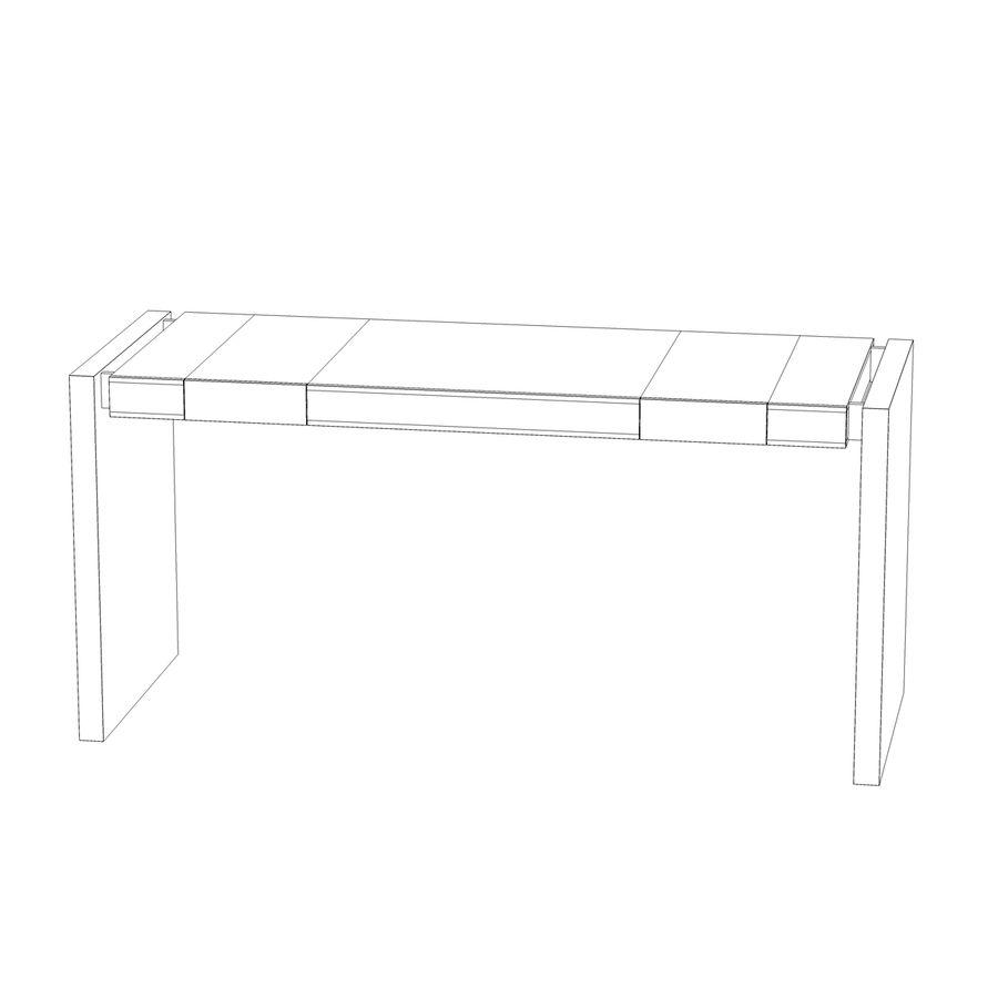 Современный деревянный стол royalty-free 3d model - Preview no. 13