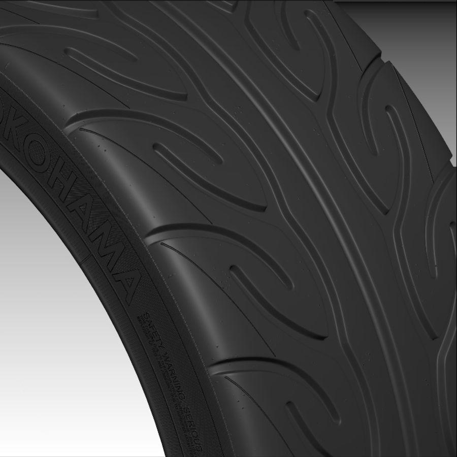 Tire Yokohama Advan AD08 royalty-free 3d model - Preview no. 4