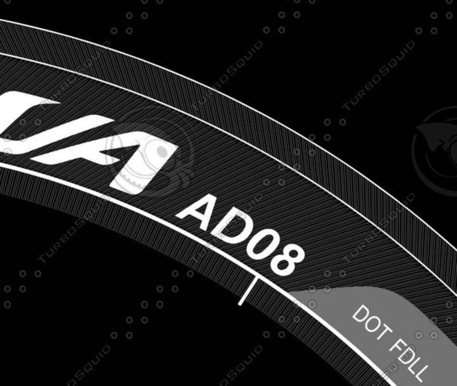 Tire Yokohama Advan AD08 royalty-free 3d model - Preview no. 13