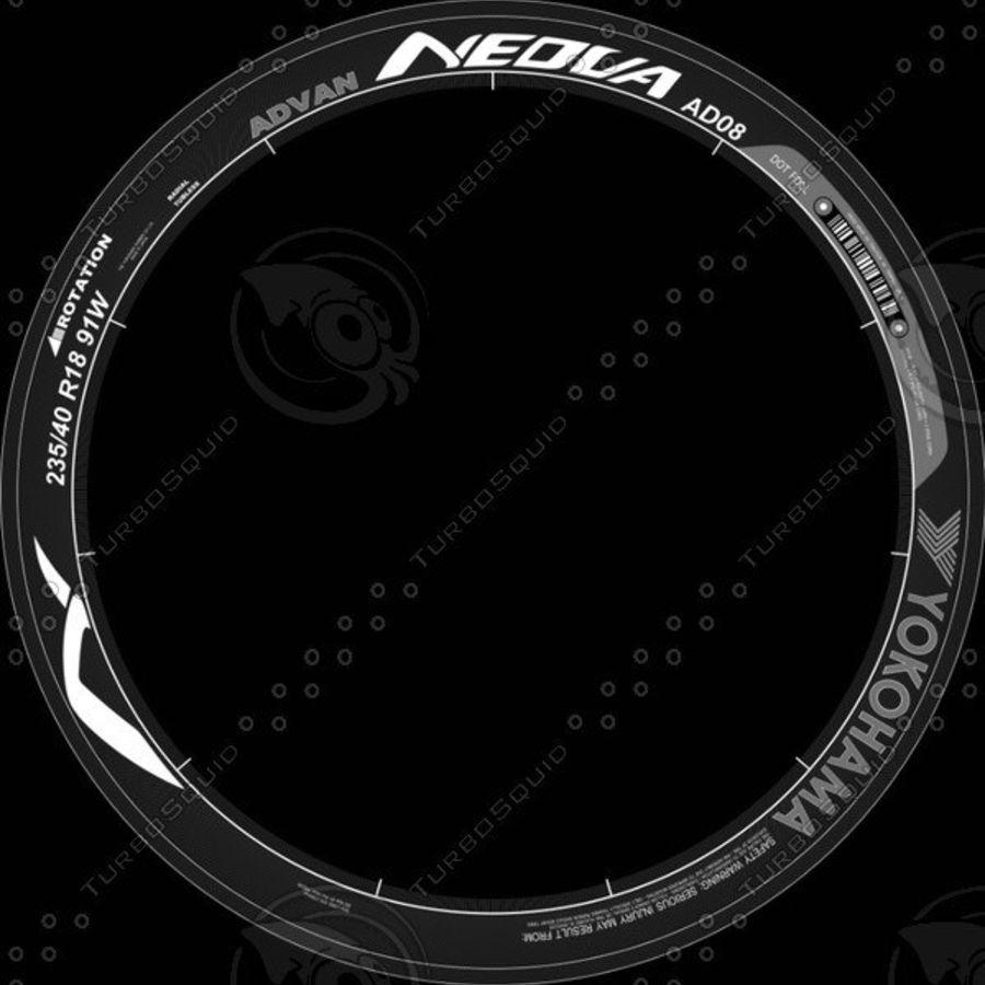 Tire Yokohama Advan AD08 royalty-free 3d model - Preview no. 12