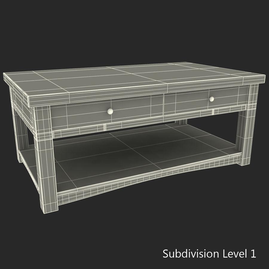 가짜 대리석 커피 용 탁자 royalty-free 3d model - Preview no. 13