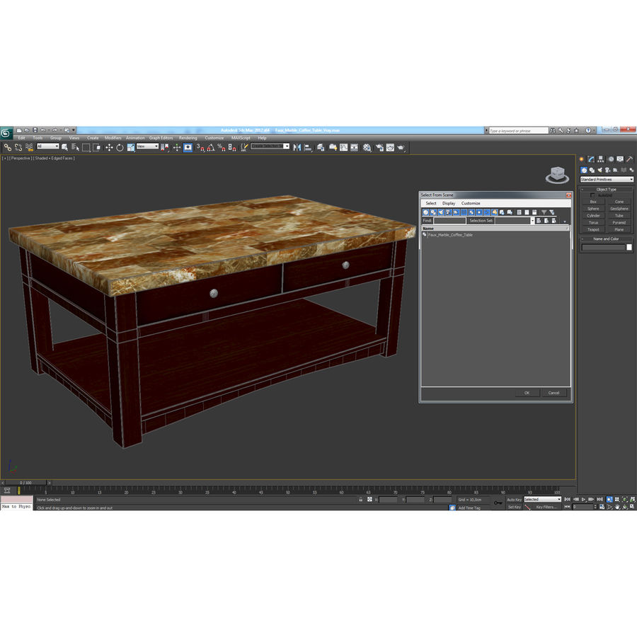 가짜 대리석 커피 용 탁자 royalty-free 3d model - Preview no. 24