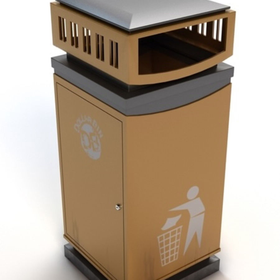 Dustbin royalty-free 3d model - Preview no. 2