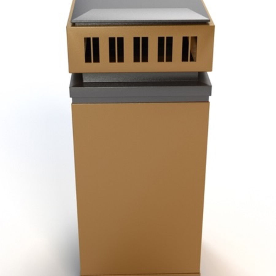 Dustbin royalty-free 3d model - Preview no. 3