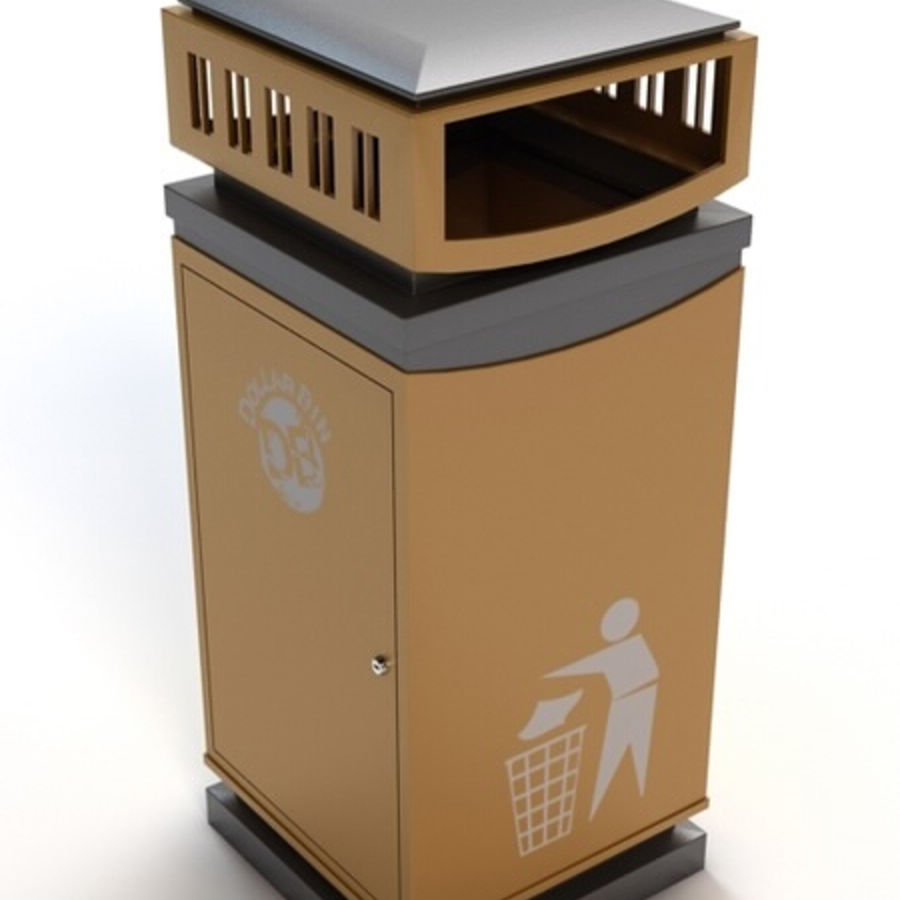 Dustbin royalty-free 3d model - Preview no. 1