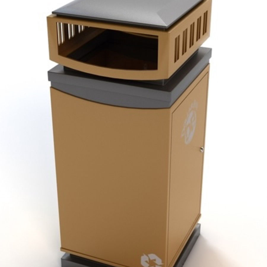 Dustbin royalty-free 3d model - Preview no. 4