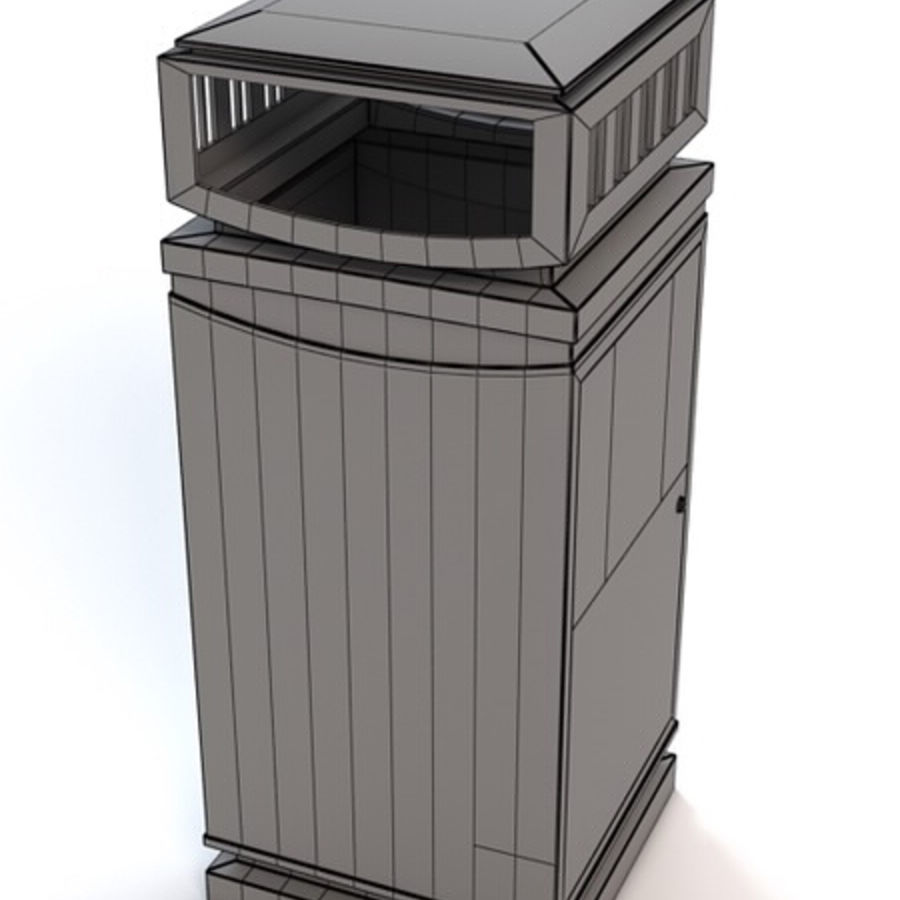 Dustbin royalty-free 3d model - Preview no. 6