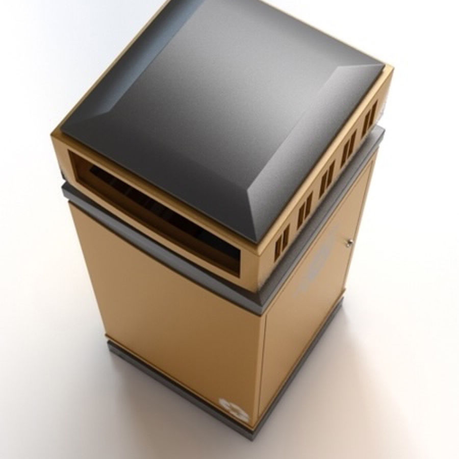 Dustbin royalty-free 3d model - Preview no. 5