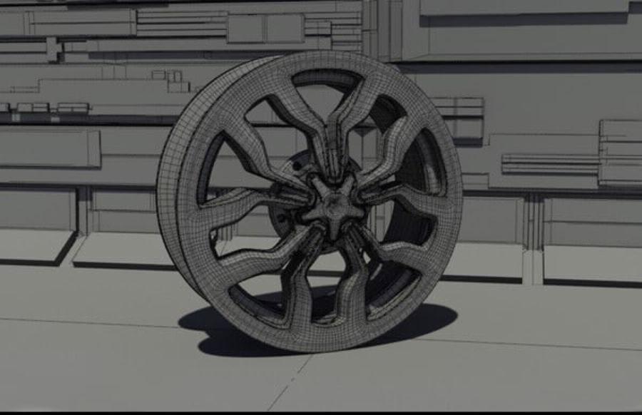 Racing Car Rim royalty-free 3d model - Preview no. 2