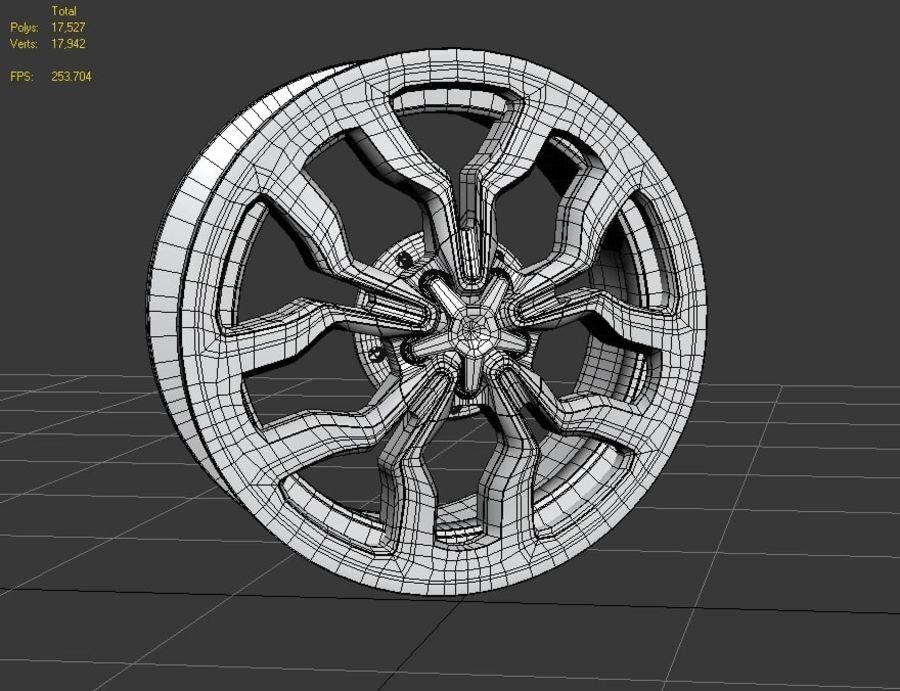 Racing Car Rim royalty-free 3d model - Preview no. 6