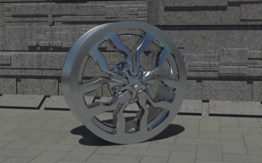 Racing Car Rim royalty-free 3d model - Preview no. 1