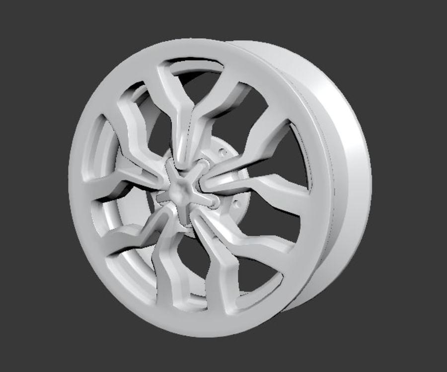 Racing Car Rim royalty-free 3d model - Preview no. 5