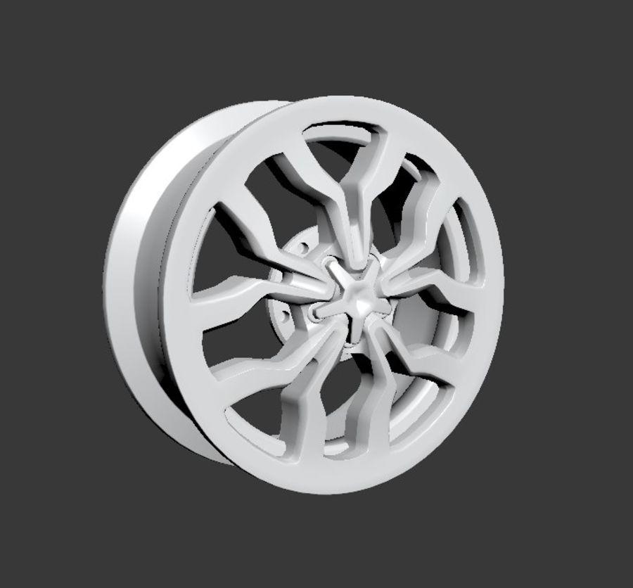 Racing Car Rim royalty-free 3d model - Preview no. 4