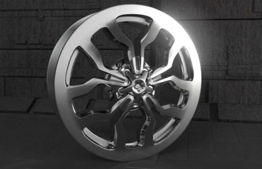 Racing Car Rim royalty-free 3d model - Preview no. 3